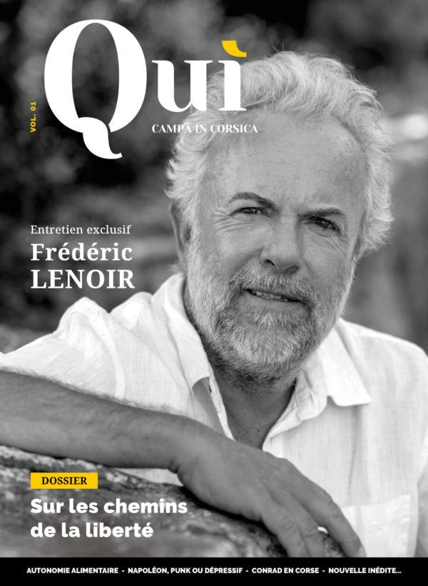 Couverture Quì magazine - Frédéric Lenoir
